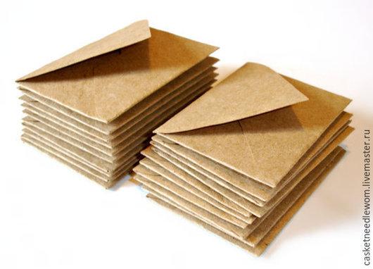 Конверты для денег ручной работы. Ярмарка Мастеров - ручная работа. Купить Крафт конверты ручной работы. Handmade. Коричневый, конверт