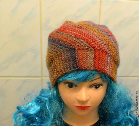 Шапки ручной работы. Ярмарка Мастеров - ручная работа. Купить шапка вязаная радужная. Handmade. Цветная, связано вручную, для осени