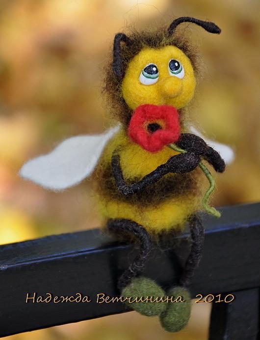 Игрушки животные, ручной работы. Ярмарка Мастеров - ручная работа. Купить Пчёлка. Handmade. Пчелка, валяшка, шерсть