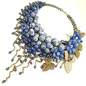 Украшения handmade. Livemaster - original item Blue Parfait. Necklace made of natural stones, the colors of the skin. Handmade.