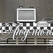 "Для дома и интерьера handmade. Livemaster - original item Shelves for cups ""checkers"". Handmade."