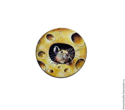 Кулоны, подвески ручной работы. Ярмарка Мастеров - ручная работа. Купить Мышонок. Handmade. Мышонок, животные, роспись, масляные краски