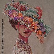 Картины и панно ручной работы. Ярмарка Мастеров - ручная работа Вышитая картина Викторианская элегантность. Handmade.