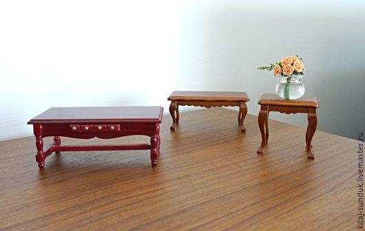 Миниатюра ручной работы. Ярмарка Мастеров - ручная работа. Купить Столики журнальные для кукол Миниатюра 1:12. Handmade. Кукольная миниатюра