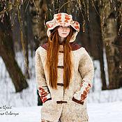 Одежда handmade. Livemaster - original item Handmade Felted Art coat Winter sketches. Handmade.