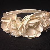 Свадебный салон ручной работы. Ярмарка Мастеров - ручная работа Венок с белыми розами и бутонами. Handmade.