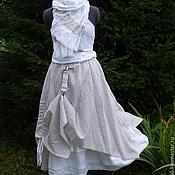 Одежда ручной работы. Ярмарка Мастеров - ручная работа Льняная юбка  бохо №021. Handmade.