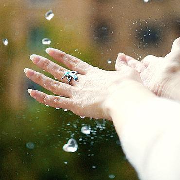 """Украшения ручной работы. Ярмарка Мастеров - ручная работа """"Радость летнего дождя"""" кольцо из серебра с горячей эмалью. Handmade."""