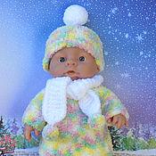 Куклы и игрушки ручной работы. Ярмарка Мастеров - ручная работа Одежда для пупса размером 28-29 см, комплект Помпошки. Handmade.