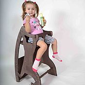 Для дома и интерьера handmade. Livemaster - original item High chair, Desk rocking Horse. 3 in 1. Handmade.