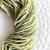 Бусины ручной работы. Ярмарка Мастеров - ручная работа Стеклянные рондели 3*2мм. Handmade.