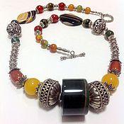 Украшения handmade. Livemaster - original item Necklace made of natural stones in the ethnic style of Oriental Bazaar.. Handmade.