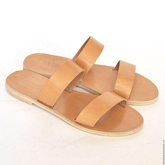 Обувь ручной работы. Ярмарка Мастеров - ручная работа. Купить Кожаные сандалии с параллельными ремешками. Handmade. Сандалии, кожа