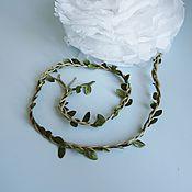 Материалы для творчества ручной работы. Ярмарка Мастеров - ручная работа Шпагат веревка декор с листьями. Handmade.