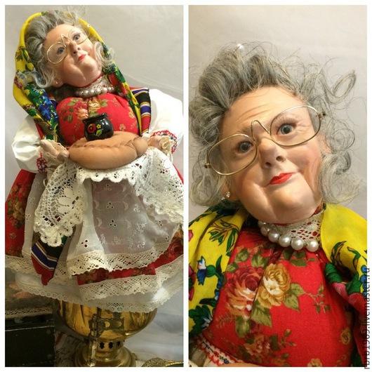 """Куклы и игрушки ручной работы. Ярмарка Мастеров - ручная работа. Купить Горячие бабукшки""""(грелка на самовар). Handmade. Разноцветный, дача, бабка"""