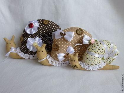 Куклы Тильды ручной работы. Ярмарка Мастеров - ручная работа Улитки в стиле Тильда (семья). Handmade.