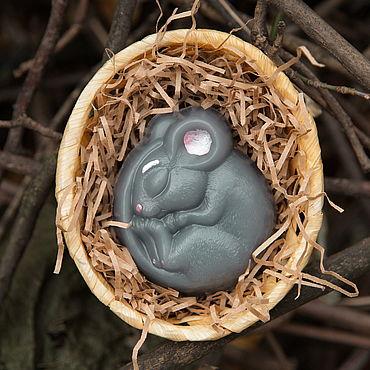 Косметика ручной работы. Ярмарка Мастеров - ручная работа Мышь мыло мышка. Handmade.