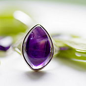 Украшения handmade. Livemaster - original item Ring with amethyst
