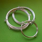 Серебряная проволока 0,5 мм серебро 925 пробы Ювелирная проволока