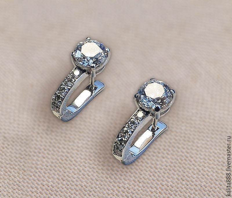 серёжки с бриллиантами фото