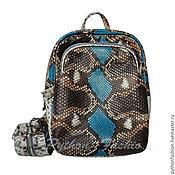 Сумки и аксессуары handmade. Livemaster - original item Backpack Python skin TINY. Handmade.