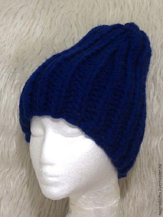 Шапки ручной работы. Ярмарка Мастеров - ручная работа. Купить Зимняя вязаная теплая мужская шапка бини. Handmade.