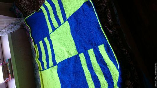 Аксессуары для колясок ручной работы. Ярмарка Мастеров - ручная работа. Купить Детский плед. Handmade. Желтый, синий, в полоску, мягкий