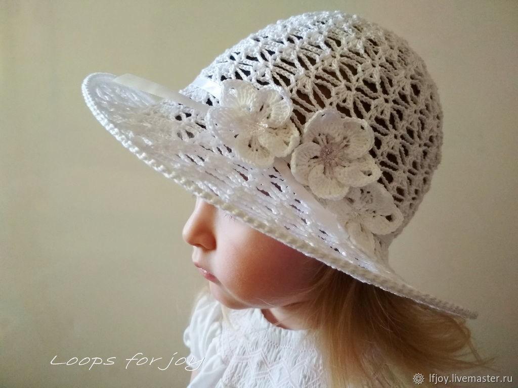 Белая шляпа для девочки  Подснежник, Шляпы, Борисов,  Фото №1