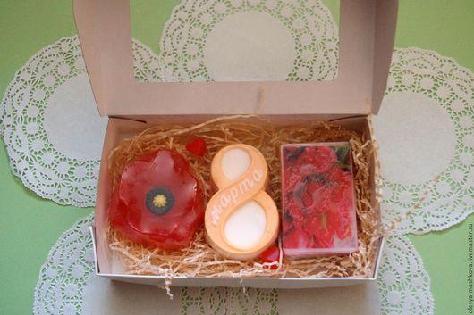 Подарочные наборы косметики ручной работы. Ярмарка Мастеров - ручная работа. Купить Набор мыла подарочный Букет на 8 марта. Handmade.