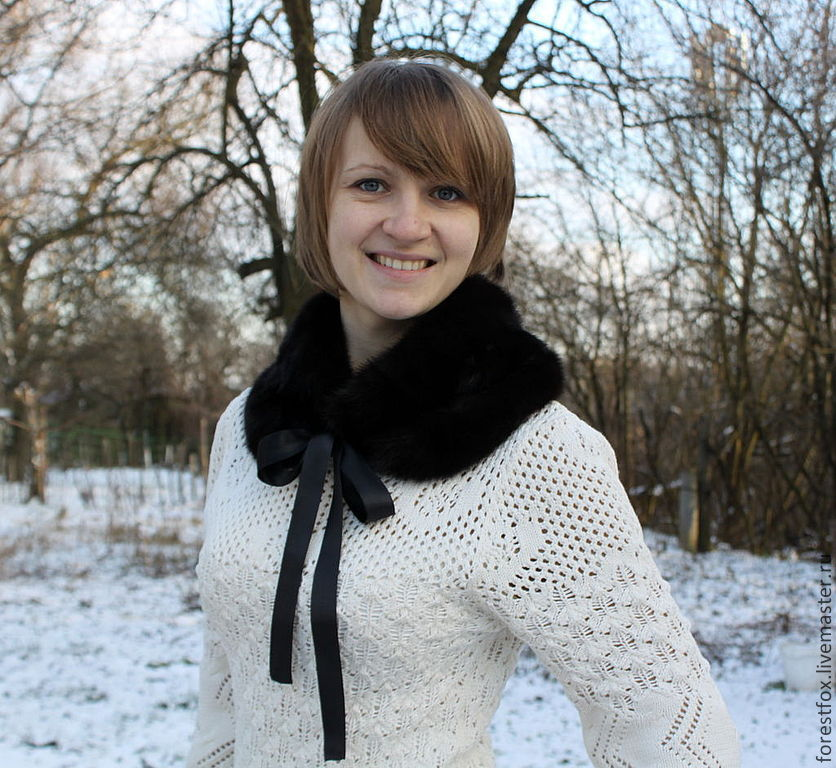 Mink fur snood in black, Collars, Moscow,  Фото №1