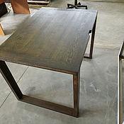 Столы ручной работы. Ярмарка Мастеров - ручная работа Стол компьютерный из дуба 800х1200 мм. Handmade.