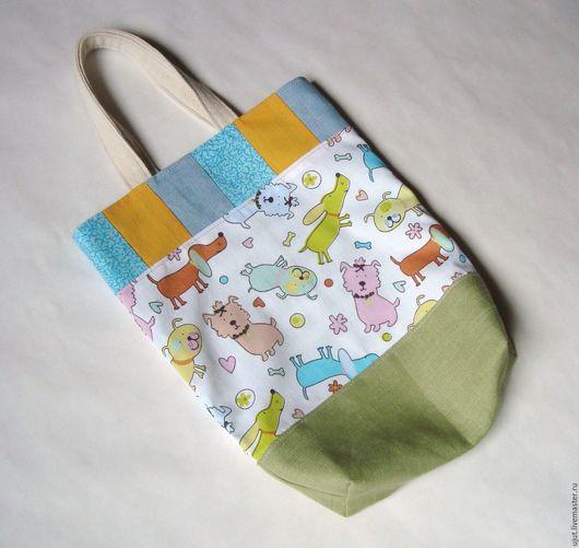 """Детские аксессуары ручной работы. Ярмарка Мастеров - ручная работа. Купить Детская сумочка для девочки """"Песики"""". Handmade. сумка для девочки"""