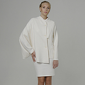 Одежда handmade. Livemaster - original item The white jacket of loden clothes from asymmetric boiled wool designer. Handmade.