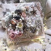 Открытки ручной работы. Ярмарка Мастеров - ручная работа Открытки: Рождественский ангел. Handmade.