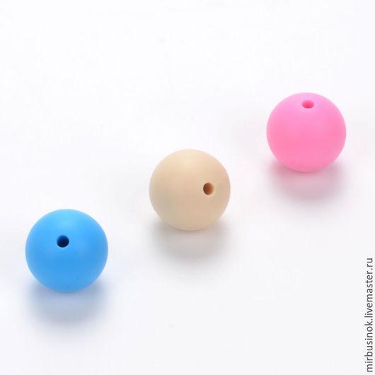 Силиконовые бусины шар 9,12,15, и 19 мм Более 10 расцветок. Цены и наличие по запросу
