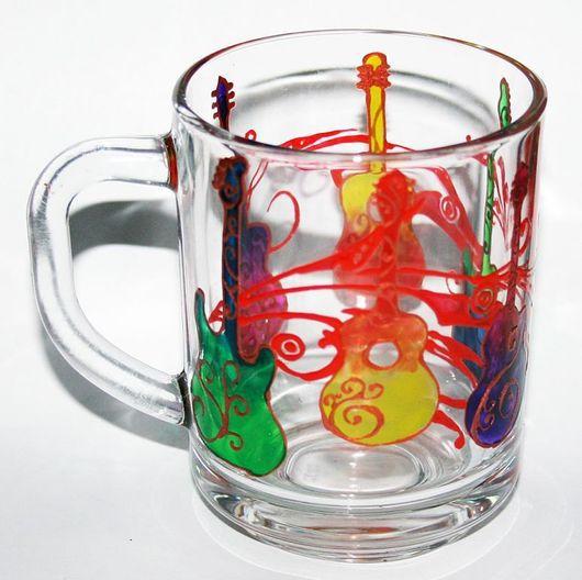 Кружки и чашки ручной работы. Ярмарка Мастеров - ручная работа. Купить Гитарное чаепитие. Handmade. Гитара, кантри