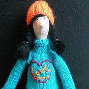 Куклы и игрушки ручной работы. Ярмарка Мастеров - ручная работа Тильда Зимняя куколка  в свитере. Handmade.