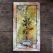 """Картины и панно ручной работы. Ярмарка Мастеров - ручная работа Ботаническое панно """"Базилик"""". Handmade."""
