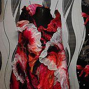 """Аксессуары ручной работы. Ярмарка Мастеров - ручная работа Палантин """"Магия огня"""". Handmade."""