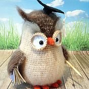 Куклы и игрушки handmade. Livemaster - original item Owl teacher. Handmade.