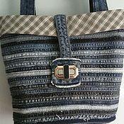 Classic Bag handmade. Livemaster - original item Denim bag