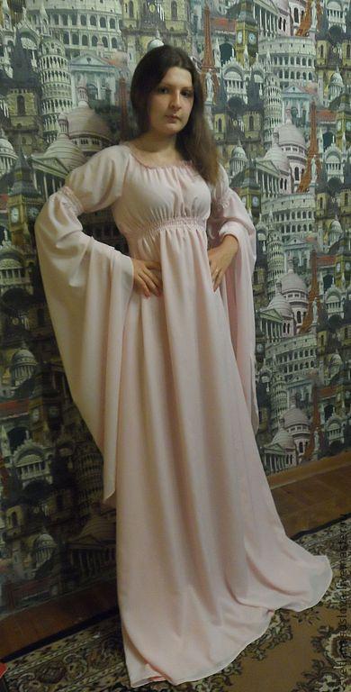 """Платья ручной работы. Ярмарка Мастеров - ручная работа. Купить Платье """"Джульетта"""". Handmade. Бледно-розовый, вискоза с эластаном"""