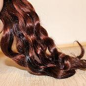 Материалы для творчества handmade. Livemaster - original item Hair for dolls (mocha) Curls Curls for dolls. Handmade.