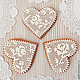Gingerbread Hearts 'Lace'. Gingerbread Cookies Set. prynik. My Livemaster. Фото №4
