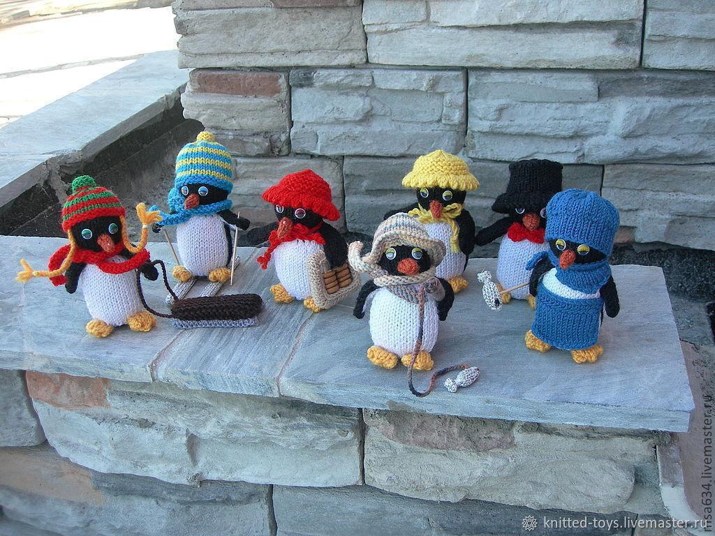 Пингвины. Вязаные игрушки, Мягкие игрушки, Липецк,  Фото №1