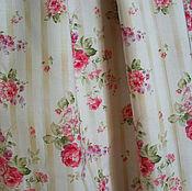 Одежда ручной работы. Ярмарка Мастеров - ручная работа Юбка длинная, в полоску, с розами, из хлопка. Handmade.
