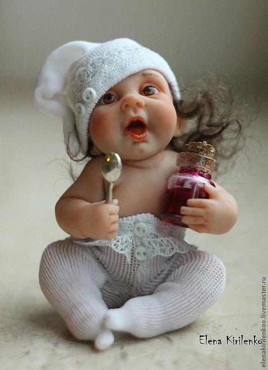Коллекционные куклы ручной работы. Ярмарка Мастеров - ручная работа. Купить Капитолина. Handmade. Белый, варенье, prosculpt, текстиль