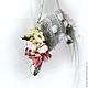 Свадебные цветы ручной работы. Букет невесты сумочка серебряная. Tanya1966. Ярмарка Мастеров. Живые цветы, зелень, живые цветы
