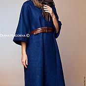 """Одежда ручной работы. Ярмарка Мастеров - ручная работа Авторское пальто из мериносовой шерсти """" Navy blue"""". Handmade."""