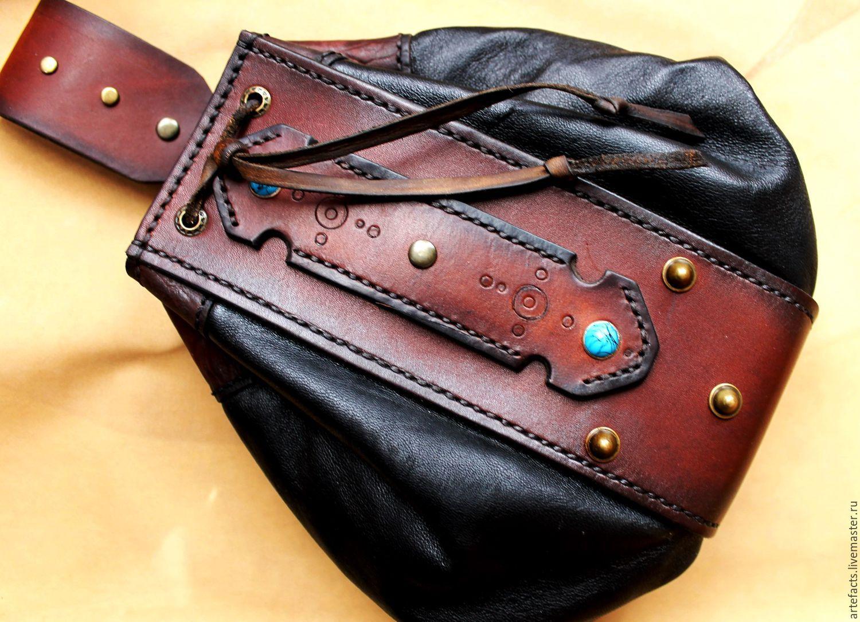 Сумка из кожи ручной работы, сумочка на полевые